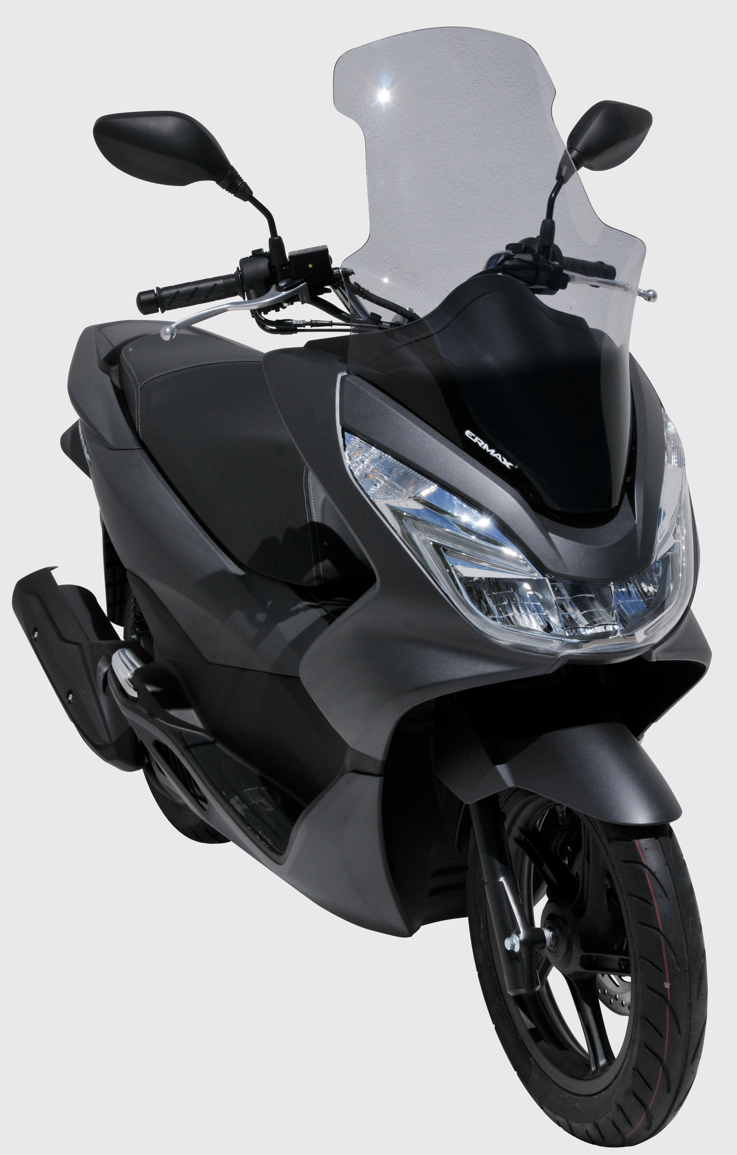 High protection windshield ermax for pcx 125 150 2014 2017 70 cm with protection of hands